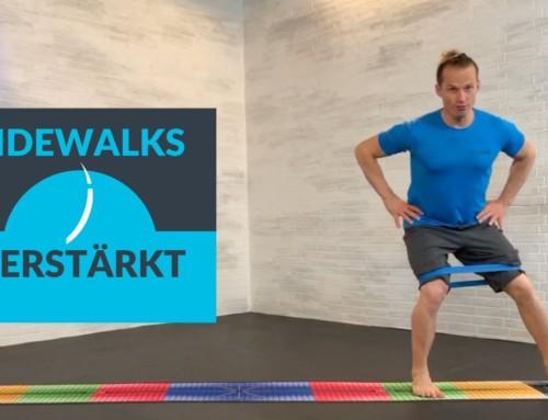Sidewalks mit Miniband zur Kräftigung deiner Hüfte