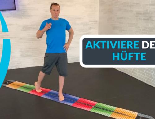 Aktiviere deine Hüfte mit Flexion, Innenrotation und Adduktion auf der PATmat